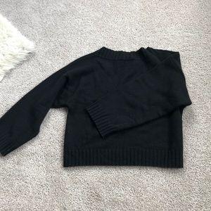 Black Vince Cashmere sweater.